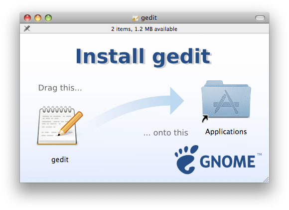 Популярный тeкстовый редактор gedit теперь и для Mac OS X