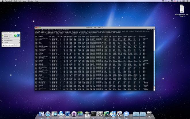 Snow Leopard Server: Server Preferences, Dock, Системные настройки