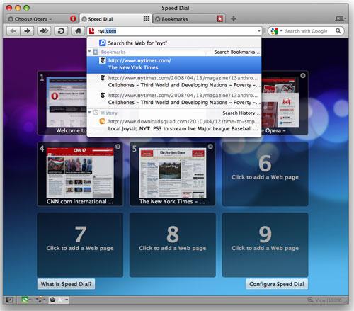 Выпущена Opera 10.52 для Mac Os X
