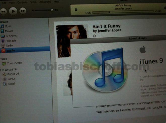 Скриншоты «социального» iTunes 9?