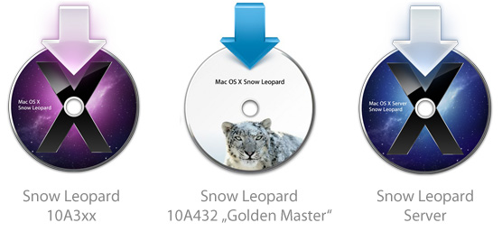 Новая иконка установщика ОС в Snow Leopard 10A432 GM