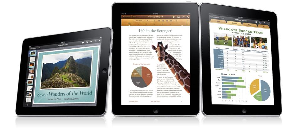 Apple обновила приложения iWork для iPad