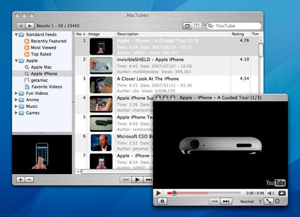 MacTubes 1.2 YouTube Видео плеер и менеджер закачек