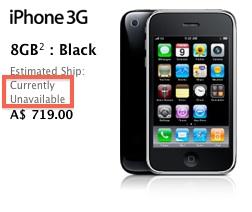 Apple iPhone 3G более недоступен для заказа
