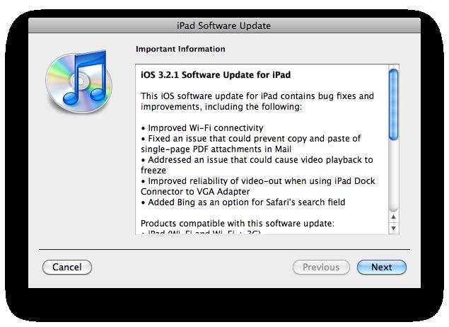 Обновления iOS 4.0.1 и iPhone OS 3.2.1
