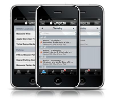 Apple выпустила приложение WWDC 2010 для iPhone